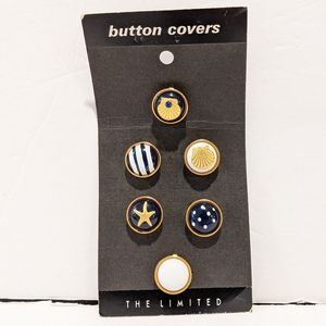 6 Nautical button covers
